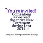 Join the #LentChallenge and read the New Testament in 40 Days.