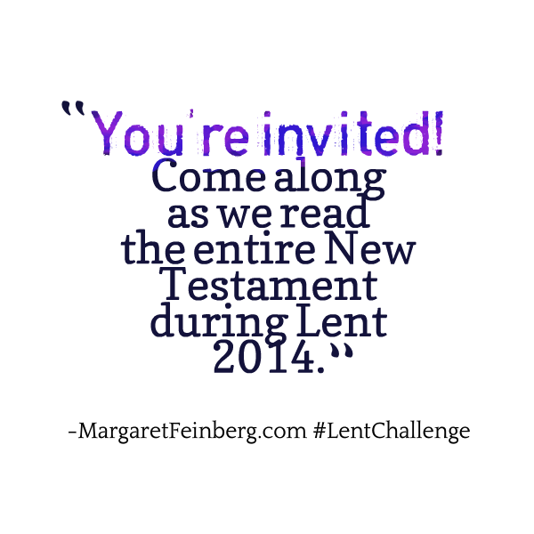 Lent 2014: The 40-Day Bible Reading Challenge